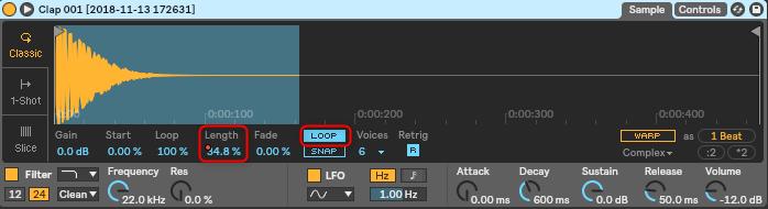 サンプラーで超簡単に徐々に遅くなるサウンドを作る