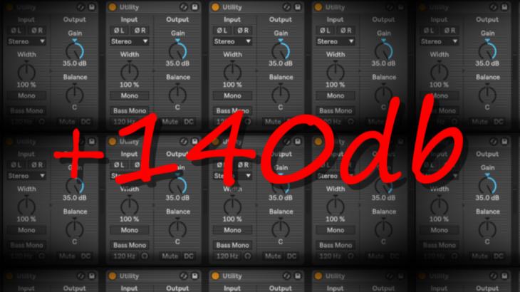 Ableton Live Tips 014 Utilityをアホみたいに使って+140dbしてノイズ生成